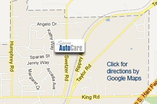 Loomis Auto Service Map