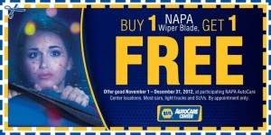 Wiper Blade Coupon